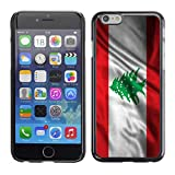 FJCases Lebanon Lebanese Waving Flag Slim  and  Thin Hard Case Cover for Apple iPhone 6 / iPhone 6S