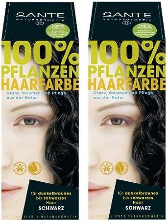 Sante Tinte de pelo vegetal en paquete doble negro 2 x 100 g ...