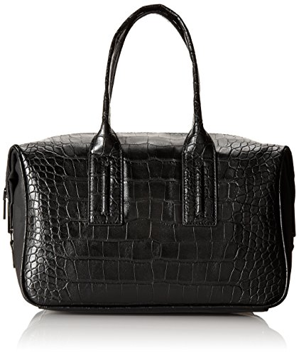 (French Connection Shes A Lady Satchel,Black Crocodile,One Size)