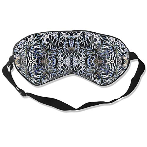 (BLDBZQ Sleep Eye Mask Snakes Coon Tail Pit Rattler Silk Mask with Adjustable Head Strap Block Light Nap Blindfold)