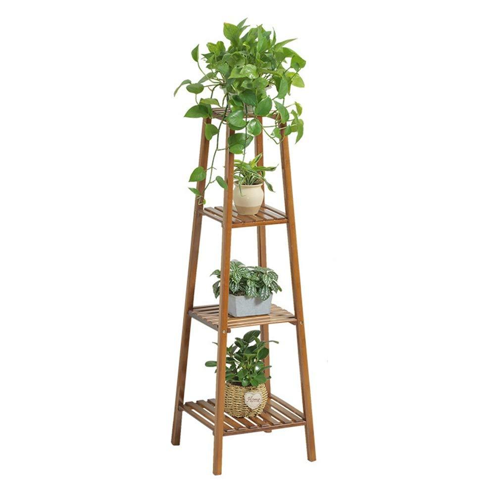 Stand di piante Supporto per piante a forma di torre in legno massello a forma di fiore Pianta multi-strato espositore per fiori Espositore per vasi da fiori per giardino interno (3 tipi altezze opzio