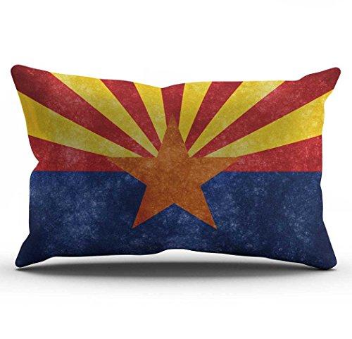 Arizona Flag (DECOPOW Retro Style US State Flag Pillow Cover, State Flag Throw Pillow Covers 12 X 20 Inches By Arizona(12X20))