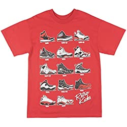 Apparel Zoo Basics Retro Kicks Mens T-Shirt in Red