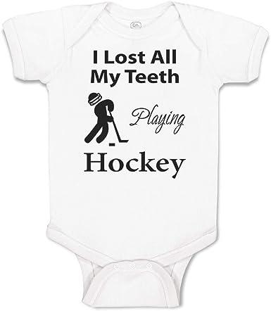 Just Born Baby Girls Baby Boys Girls Bodysuits Moose Playing Field Hockey Cotton Long Sleeve Romper Bodysuit
