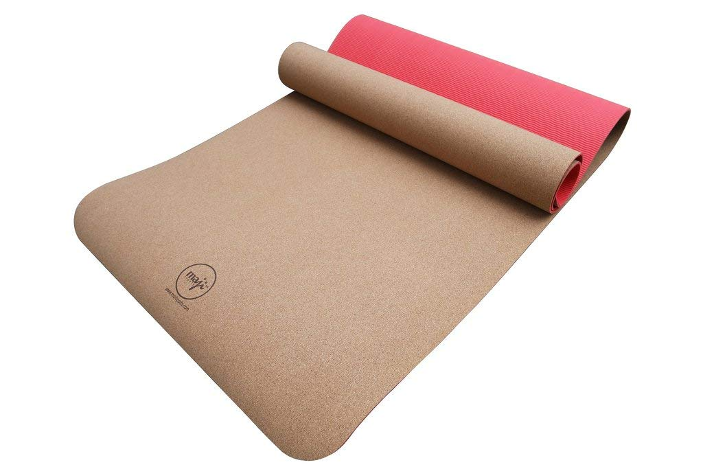 TPE Yoga Mat Maji Sports Cork Pink 1440946