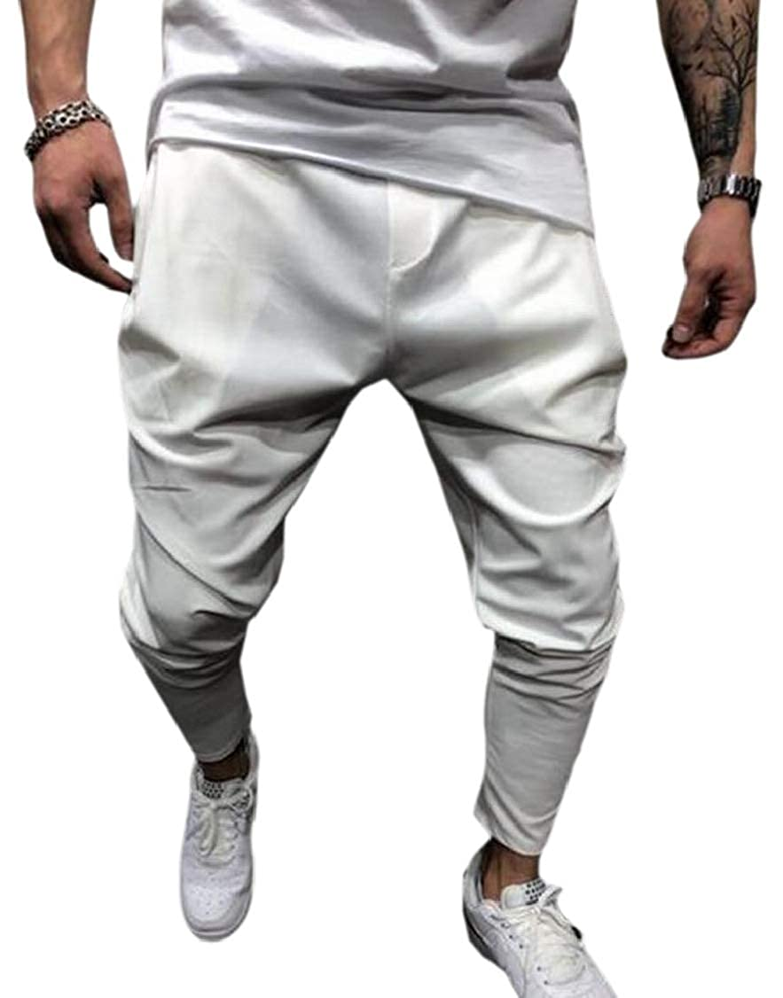 M/&S/&W Mens Active Relaxed Fit Drop Crotch Harem Pant with Pockets