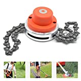 Transer 65Mn Trimmer Head Replacement Coil Chain Brushcutter Accessory for Garden Grass Trimmer Lawn Mower (Multicolor)
