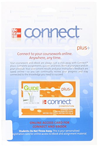 Access Code Connect Card for McGraw Hill Guide: Writing for College, Writing for Life