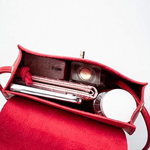Mdsfe Borse per Donna Borsa Piccola Borsa a Tracolla Borsa Mini Cellulare da Donna Borsa Business Carina Facile Prendere Piccola Moda Trapezio - Nero