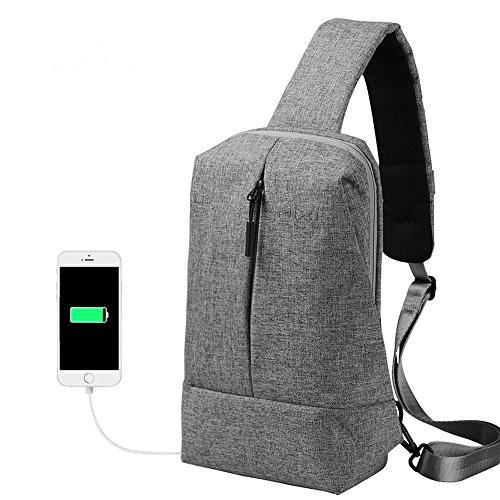 Travel Outdoor Computer Backpack Laptop Bag (Dark Grey) - 4