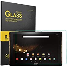 KuGi ® Acer Iconia One 10 B3-A30 Screen protector-High Quality 9H Hardness HD clear Tempered Glass Screen Protector for Acer Iconia One 10 B3-A30 tablet(Clear)