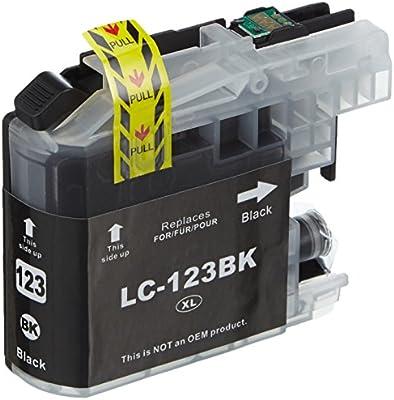 Safeprint LC123Bk cartucho de tóner láser compatible con Brother ...