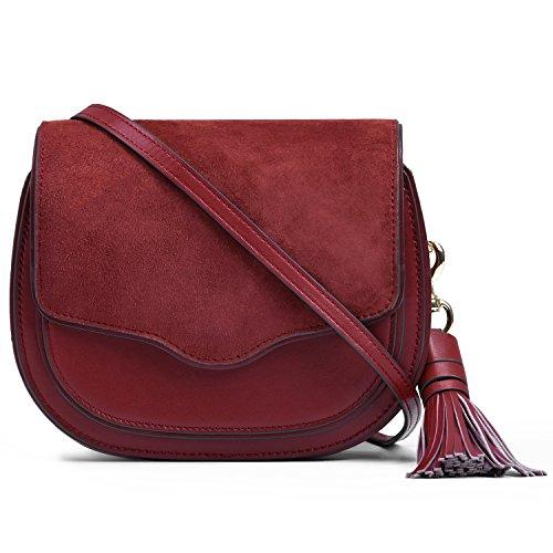 Mini with Bag red Crossbody Wine Tassel Lightweight 6d1qxtTw1