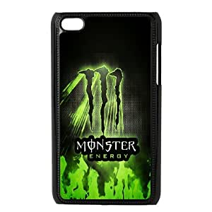 Monster Energy Pattern Plastic Hard Case FOR IPod Touch 4th TPUKO-Q909461