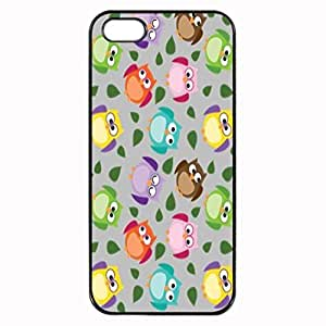 Animal Print Colorful Owl Picture Unique Printed Plastic Rubber Sillicone Customized iPhone 5 Case, iPhone 5S Case Cover, Protection Quique Cover, Perfect fit, Show your own personalized phone Case for iphone 5 & iphone 5S