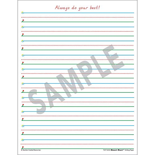 Teacher Created Resources Smart Start 1–2 Writing Paper: 360 sheets (Pack of 8)