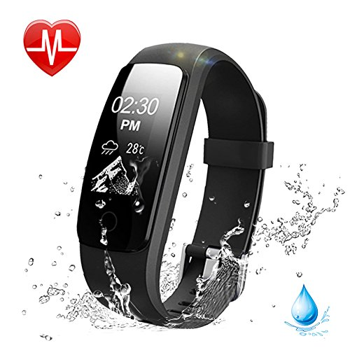 Heart Rate Fitness Tracker Watch, Lintelek Updated Activity Tracker with Multiple Sports Modes, IP67 Waterproof Touch Screen Smart Pedometer for Android and IOS Smart Phones (Sports Fitness And)