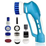 electric shower cleaner - CUH Cordless Power Scrubber with Rechargeable Battery for Bathroom Kitchen 6 Brushes 1 Scouring Pad