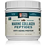 NEW! Natural Force® Wild Caught Tasteless Marine Collagen Powder *BEST MARINE COLLAGEN FOR SKIN* Anti Aging Collagen Peptides, Hydrolyzed Type 1 and 3 Fish, Non-GMO Paleo Protein, 11.63 oz.