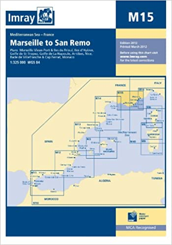 Marseille to Genoa and Corsica (Imray M.Chart) Map – Import, September, 2003