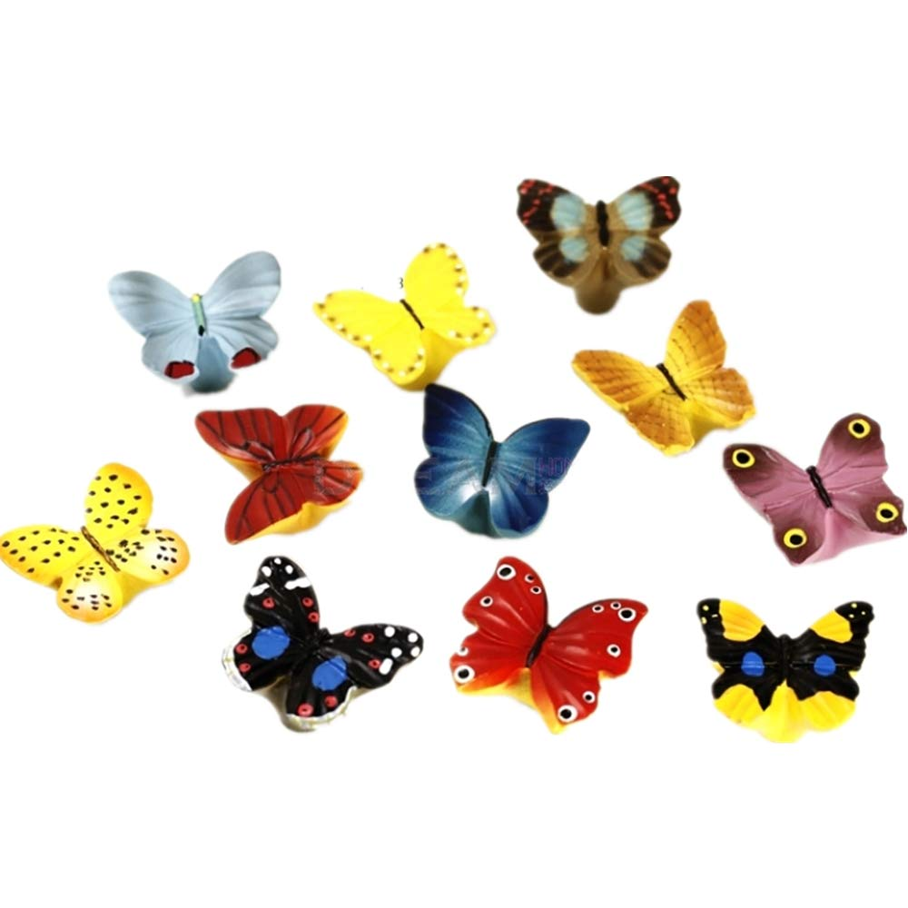 Liaozy888 Resin Chromatic Butterfly Shape Cabinet knobs and Handles for Children's Furniture Drawer Handles (8) by Liaozy888
