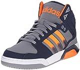 adidas Neo Men's BB9TIS Lace up Shoe, Grey/Solar Orange/Collegiate Navy, 7.5 M US