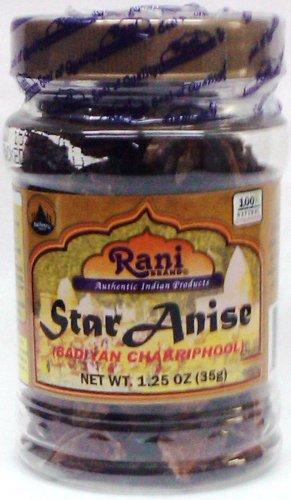 Rani Star Anise Seeds (Badian Khatai) Spice 1.25oz (35g) PET Jar ~ Natural | Vegan | Gluten Free Ingredients | NON-GMO ()