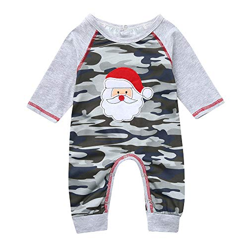 Xmas Recommended! 3-24 Months Infant Baby Boys Christmas Santa Camouflage Romper Jumpsuit Outfits (Camouflage, 6-12 Months) -