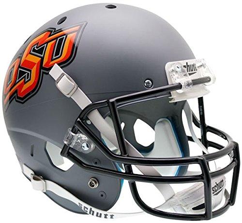 Schutt NCAA Oklahoma State Cowboys Replica XP Helmet - Alternate 1 (Matte Grey) (Oklahoma Replica Helmet)