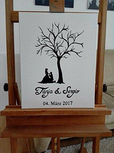 70 X 50 Cm Hochzeitsgastebuch Hochzeitsbaum Wedding Tree