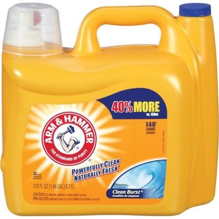- Arm & Hammer 2X Ultra Clean Burst Liquid  Phosphate-free detergent 210 oz,140 Loads