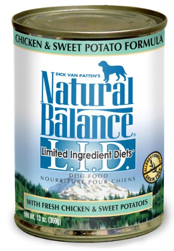 Natural Balance Chicken and Sweet Potato Dog Food (Pack of 12 13-Ounce Cans), My Pet Supplies