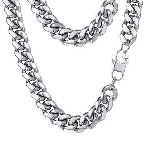 PROSTEEL Stainless Steel Jewelry,Mens Jewelry Chunky Necklace Titanium Steel Collar Men Cuban Link Chain