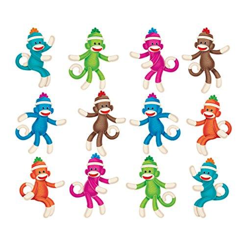 Price comparison product image Trend Enterprises Sock Monkeys Solids Mini Accents Variety Pack (36 Piece)