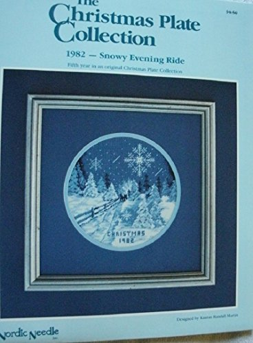 The Christmas Plate Collection 1982 Snowy Evening Ride Cross Stitch Pattern From Nordic Needle Designed By Kaaran Randall Martin ()