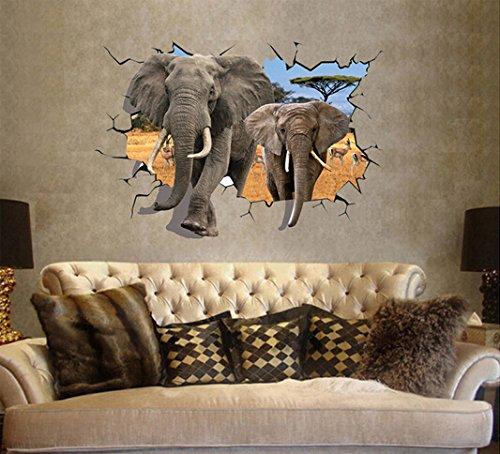 Liroyal 3D Wall Stickers Decor Art Decorations Size 3
