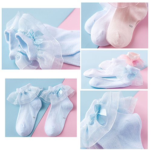 New Lovely Ruffle Lace Cotton Baby Girls Socks(0M-7Y) by CoCoUSM (Image #5)