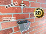 RiLahy Wall Mount Bottle Opener and Mounted Cap Catcher Set Both Stainless Steel Vintage Antique Style Beer and Soda Openers and Catchers Removable Bin Include Screws Mounts Easy