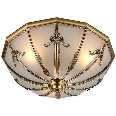 Global-Americana iluminación de techo todo-cobre Lámparas de ...