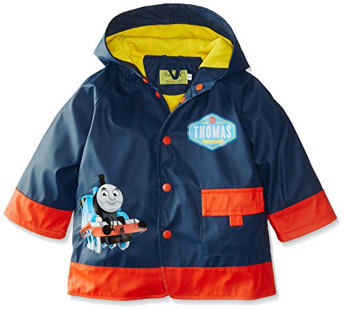 Western Chief Kids Thomas and Friends Lined Rain Jacket, Thomas Blue Engine, (Friends Blue Engine)
