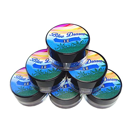 50 Blue Dream Strain Shatter Labels Oil Wax Crafts 1G 5ML Acrylic Jars AJ-006