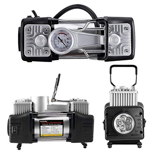 RUGCEL WINCH Portable Air Compressor Pump 10.5KG, 12V 280W Auto Digital Car Tire Inflator Gauge (12V 280 W)