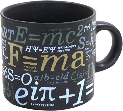 Mathematical Formulas Coffee Mug - Ponder Famous Math Equations While You Enjoy Your Drink - Comes in a Fun Gift Box - by The Unemployed Philosophers Guild