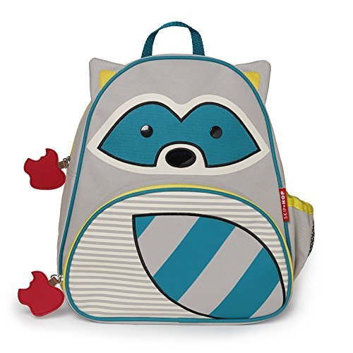 Skip Hop Zoo Toddler Kids Insulated Backpack Riggs Raccoon 12-inches Multicolored [並行輸入品]   B079VKWM59