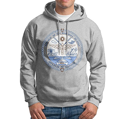 Men's Coat Of Arms Of Marshall Islands Hoodies Hooded Sweatshirt Pullover Sweater, Long Sleeves Hooded Tunic Shirt Set