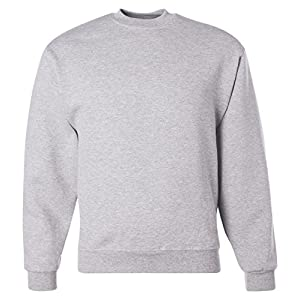 Jerzees Men's Super Sweats Crew Neck Sweatshirt, Ash, XX-Large