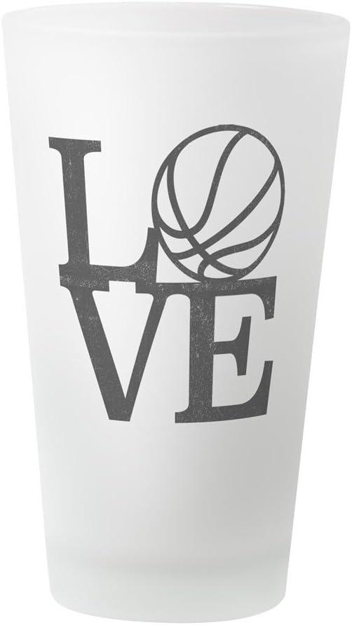 CafePress Love Vaso de pinta de baloncesto, 16 onzas Vaso para ...