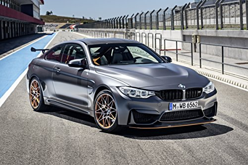 BMW M4 GTS  Car Print on 10 Mil Archival Satin Paper Gray Fr