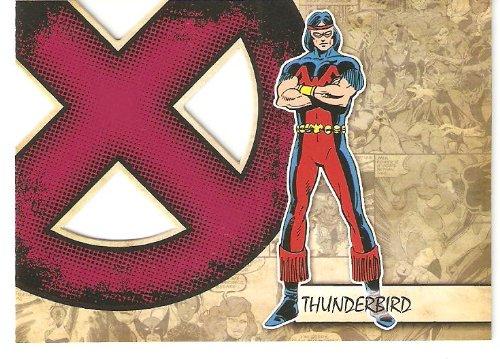 2011 Marvel Beginnings X-Men Die-Cut #X41 Thunderbird (Insert Card)(Non-Sport Comic Trading Cards)(Upper Deck - Series 1) from Marvel