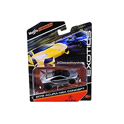NEW DIECAST TOYS CAR MAISTO 1:64 EXOTICS 2012 ACURA NSX CONCEPT GREY COLOR 15494-16NSX: Toys & Games